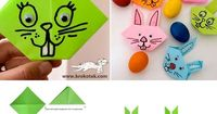 origami bunny.. such a cute craft idea
