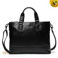 Mens Slim Leather Laptop Brief Business Bag CW914015