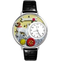Jack Russel Terrier Watch in Silver (Large) $49.95
