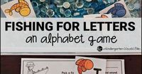 Practice letters and sounds with a fish theme! This super engaging, free alphabet game and sensory bin is great for early learners!