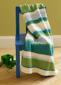 Ravelry: Mixed Stripe Baby Throw pattern by Lion Brand Yarn