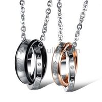 Forever Love Matching Necklaces for Couples Set of 2 by Gullei.com