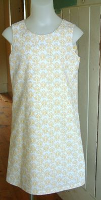 simple girls dress pattern- reversible embroider a design for texture and interest?