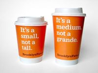 Looks like someone is taking cheap shots at Starbucks. Well, I like it! When gourmet store Brooklyn Fare decided they needed a branding strategy, they aske