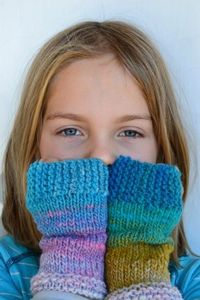 Toasty Kids Mitts - Pattern coming soon