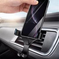 Raxfly Metal Gravity Automatical Lock Car Outlet Holder Mount for Samsung Xiaomi Mobile Phone