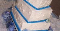 Blue White Square Summer Wedding Cakes Photos - Search our wedding photos gallery for the best Blue White Square Summer wedding Cakes photos