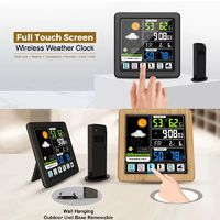 Full Touch Screen Wireless Weather Station Multi-function Color Screen Indoor and Outdoor Temperature Hygrometer Support Seven Languages
