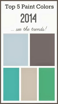 Every year everyone who loves to decorate waits for the Paint Color of the Year announcements! See the 2014 Top 5 Paint Colors from the top paint companies!