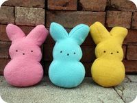 DIY how to make a peeps plushie. perfect easter craft.