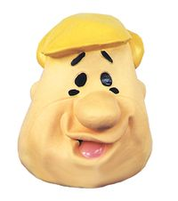 Barney Rubble Latex Mask $29.91 https://costumecauldron.com