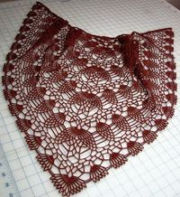 Crochet Shawls: Crochet Shawl Pattern - Pineapple Crochet Lace