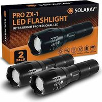 Professional Series ZX-1 Rechargeable LED Tactical Flashlights 5 Light Mode Zoom