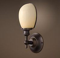 Vintage English Oval Single Sconce (in polished nickel) $159