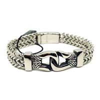 (4-4040-h4) Stainless Steel Double Franco Link Bracelet for Men. $44.99