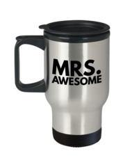 Funny Gifts For Women/men - Funny Christmas Gifts - Funny Travel Mug - Mrs Awesome $19.95