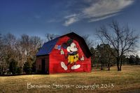 Mickey Mouse Barn! Love it!