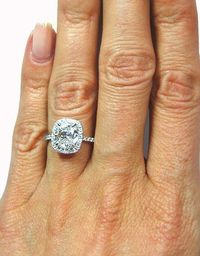 Perfect engagement ring!! Halo cut with thin band!! My kind of ring