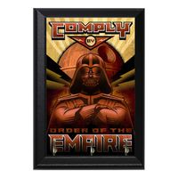 Comply By The Order Of The Empire Geeky Wall Plaque Key Holder Hanger $15.00 https://www.nurdtyme.com