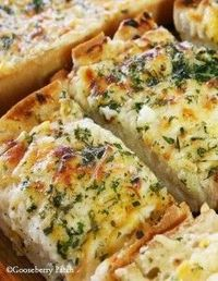 Bubbly Cheese Garlic Bread ~~ from Gooseberry Patch