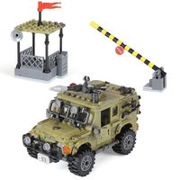 Army Jeep with Roadblock Playset 497 Pieces $44.90