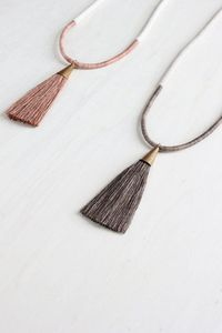 DEMETER necklace // naturally dyed cotton and silk by forestiere. NO DIY, CUTE TASSLE IDEA