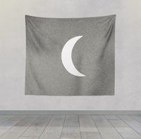 Reiki Charged Moon Sketch Black and White Wall Hanging For Meditation $30.00