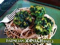 Parmesan Spinach Balls | OAMC from Once A Month Mom #vegetarian #freezercooking