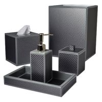 Le Mans Graphite Bath Accessories by Mike + Ally $100.00