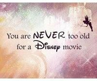 i LOVE disney movies :) even though im 21, I still enjoy watching them!