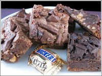 "Candy Bar Brownies, from ""Forrest Gump My Favorite Chocolate Recipes"". These brownies are to die for."