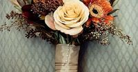 If you have a fall or rustic wedding in mind, then you'll surely need a seasonal bouquet reflecting earty colors. You can either get it arranged by a profession