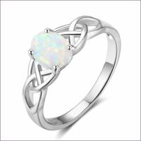 Vintage Fashion Opal 925 Sterling Silver Ring £13.00