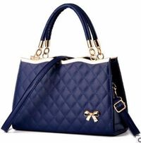 Women Luxury Quilted Ribbon Kelly Handbags Shoulder Bags PU Leather $44.73