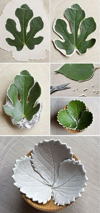Amazing! Leaf Bowls from Air Dry Clay