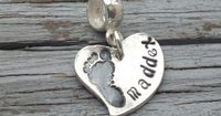 Your Baby's ACTUAL FOOTPRINT--Fine Silver--Pandora Bracelet Charm, new mom, Christmas Gift