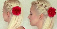 Knotted headband braid tutorial Braided hairstyle for medium long hair Prom party half updo