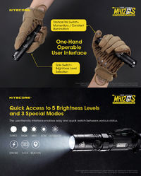 Nitecore MH12GTS XHP35 HD 1800LM 5 Brightness Levels 3Modes USB Rechargeable LED Flashlight 18650