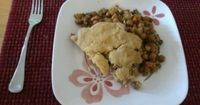 """Potpie with Biscuit Crust: This meal, made in the slow cooker, comes from """"Fresh from the Vegetarian Slow Cooker"""". It is excellent comfort food, no matter the season! This delicious meal contains 4 different vegetables (which is a great way ..."""