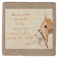Song Sparrow Scripture Psalm Coaster