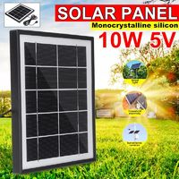 5V 5.5W Monocrystalline Silicon Solar Panel Charging Board with USB Interface + 3m Cable for Solar