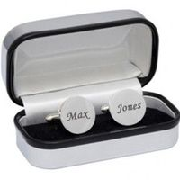 This set of high quality Silver Plated Round Cufflinks has a beautifully polished finish and is provided by The Engraved Gifts Company. They come presented in a chrome presentation box which can also be engraved.