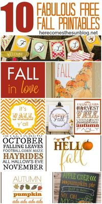 Download these free Fall printables to create instant home decor!