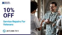 Applied Air Mechanical is providing 10% off on service or repair for Veterans.Contact us at 817-888-7311 to grab the deal.