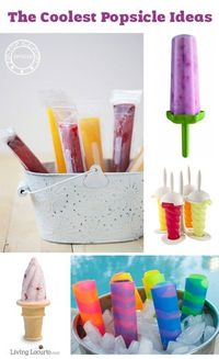 The Coolest Popsicle Ideas!! Best popsicle molds for kids and a great way to sneak healthy food into your kid's diet.
