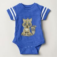 Personalized Rocky Raccoon Apparel Baby Bodysuit