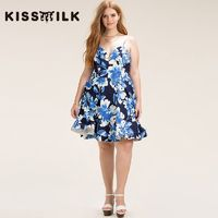 2017Plus Size women's summer New Style Fashion Backless slim fit romantic floral print sweet Strapless dress - Bonny YZOZO Boutique Store