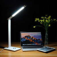 6W 45 LED Foldable Dimmable Table Lamp Reading Light 3 Brightness Level for Home Office AC85-265V