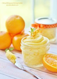 Citrus Whipped Honey Butter {Sand & Sisal}