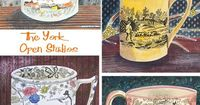 Emily Sutton has created a set of beautiful watercolours inspired by the collection of Victorian crockery at the house she shares with the artist, Mark Hearld, in York.